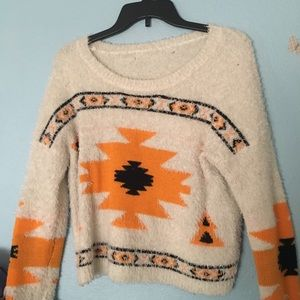 Soft Aztec design sweater. Warm and fluffy!!